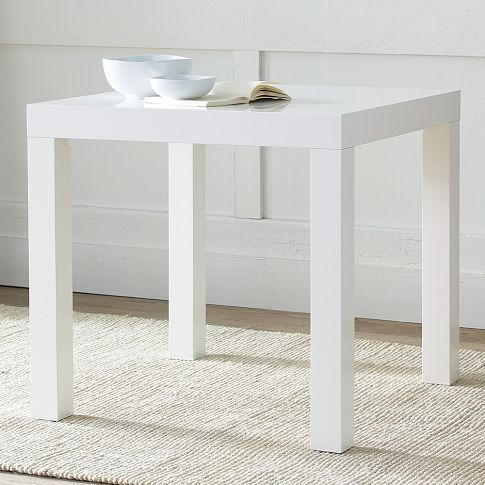 Parsons Table From West Elm Modern Straight Lines Square