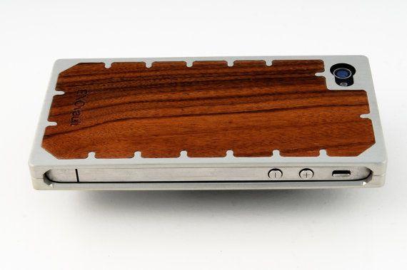 The Amazing EXO10 Aluminum and Pau Ferro Wood iPhone by EXOvault, $155.00