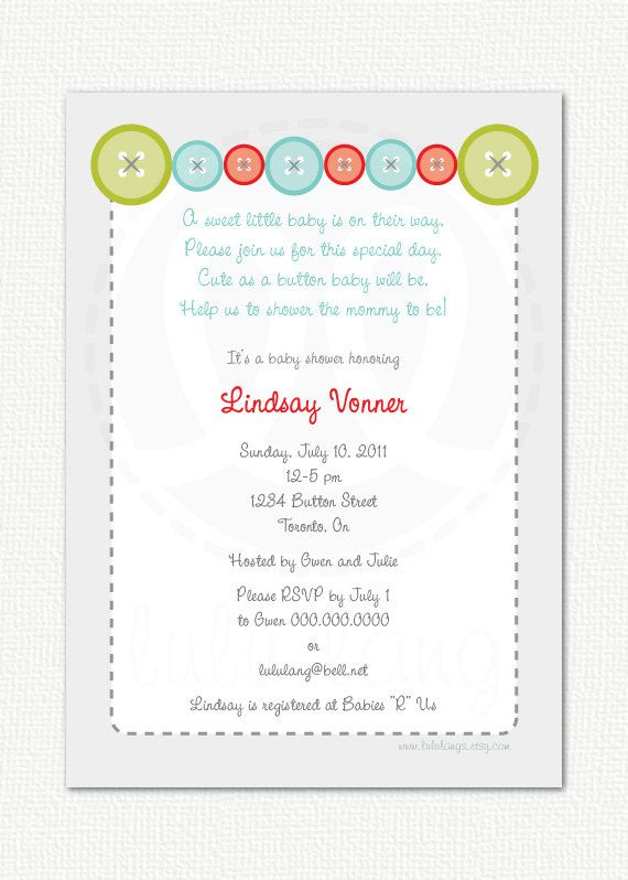 cute as a button baby shower invitation printable via etsy