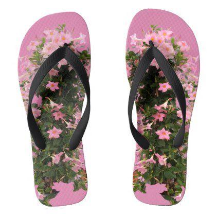 Pink Dipladenia Flip Flops