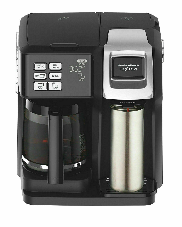 Hamilton Beach Flex Brew 2Way Coffee Maker Black/Silver