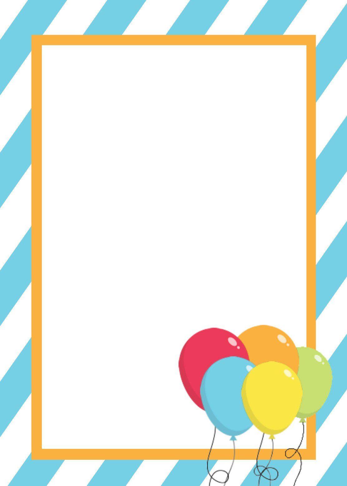 Free Blank Invitation Templates Free Printable Birthday Invitati