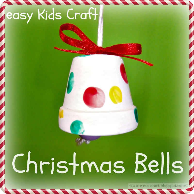 Beautiful Christmas Arts And Crafts Ideas For Preschool Part - 2: Christmas Bells Easy Kids Craft... Made From Painted Clay Pot, But Could