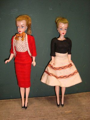 Bundle 2x Vintage 8 Dolls In 1950 S Style Outfits Possibly Bild Lilli Barbie In Dolls Bears Dolls Clothing With Images Fashion Outfits Outfits Vintage Barbie Dolls
