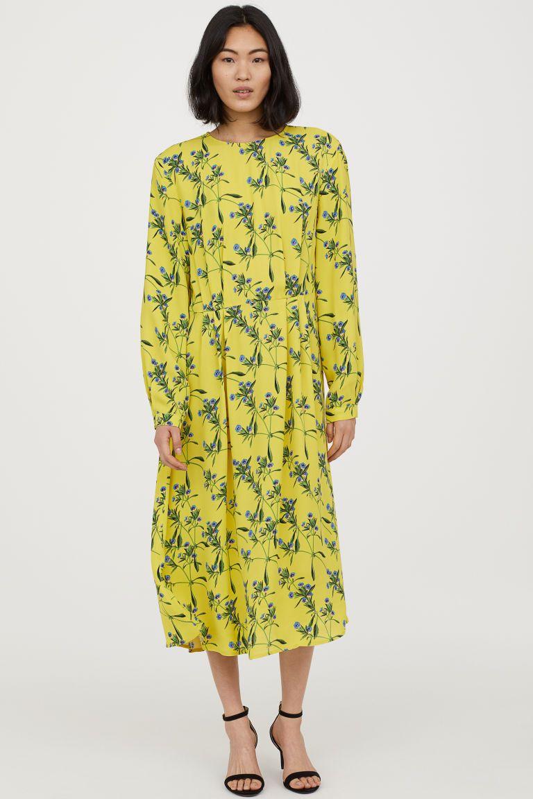 Wzorzysta Sukienka Zolty Kwiaty Ona H M Pl Yellow Dress Casual Best Summer Dresses Fashion