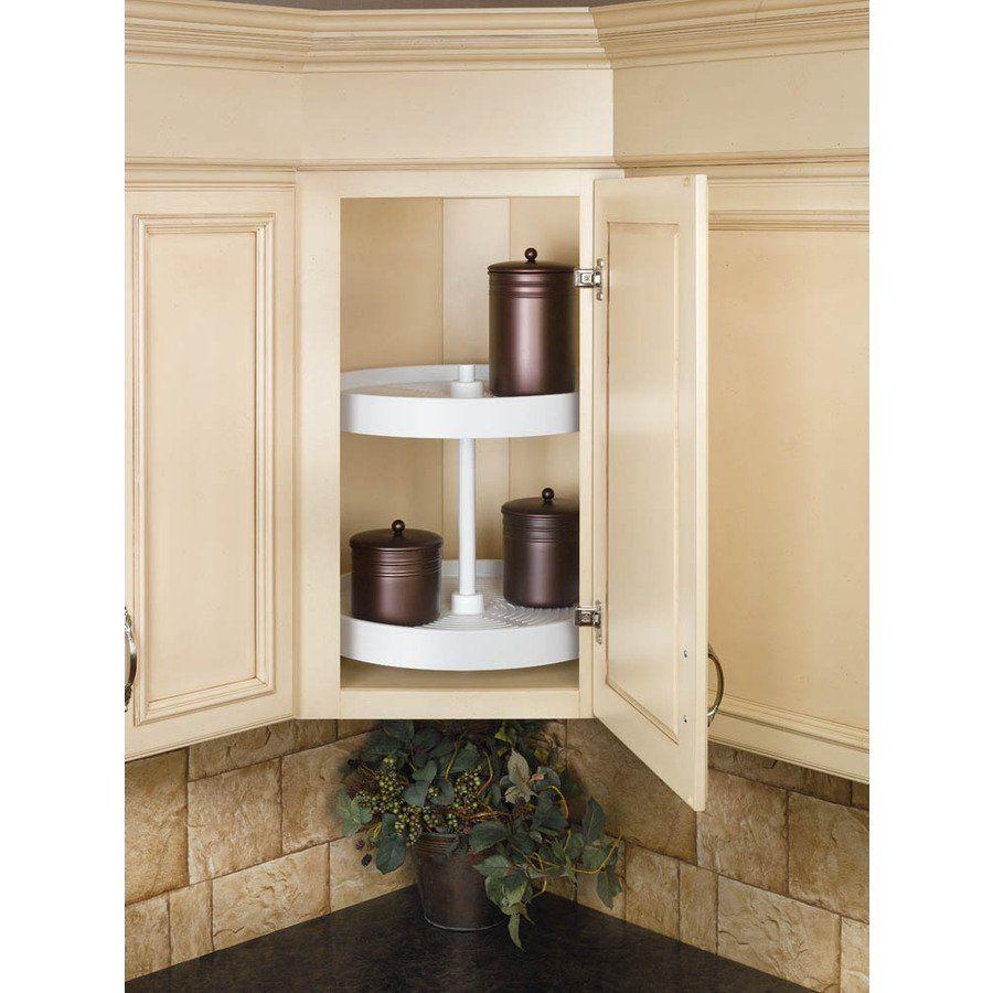 Rev-A-Shelf 6LS-18F-5 2-Tier Plastic Kidney Cabinet Lazy