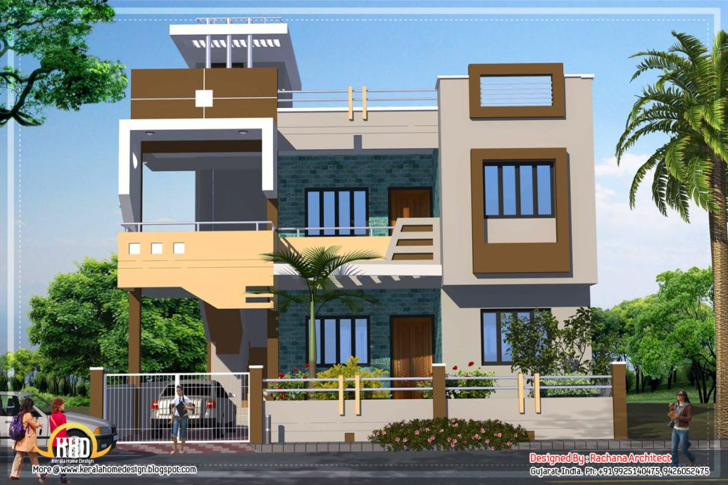 Home design contemporary india house plan sqft kerala also plans rh in pinterest