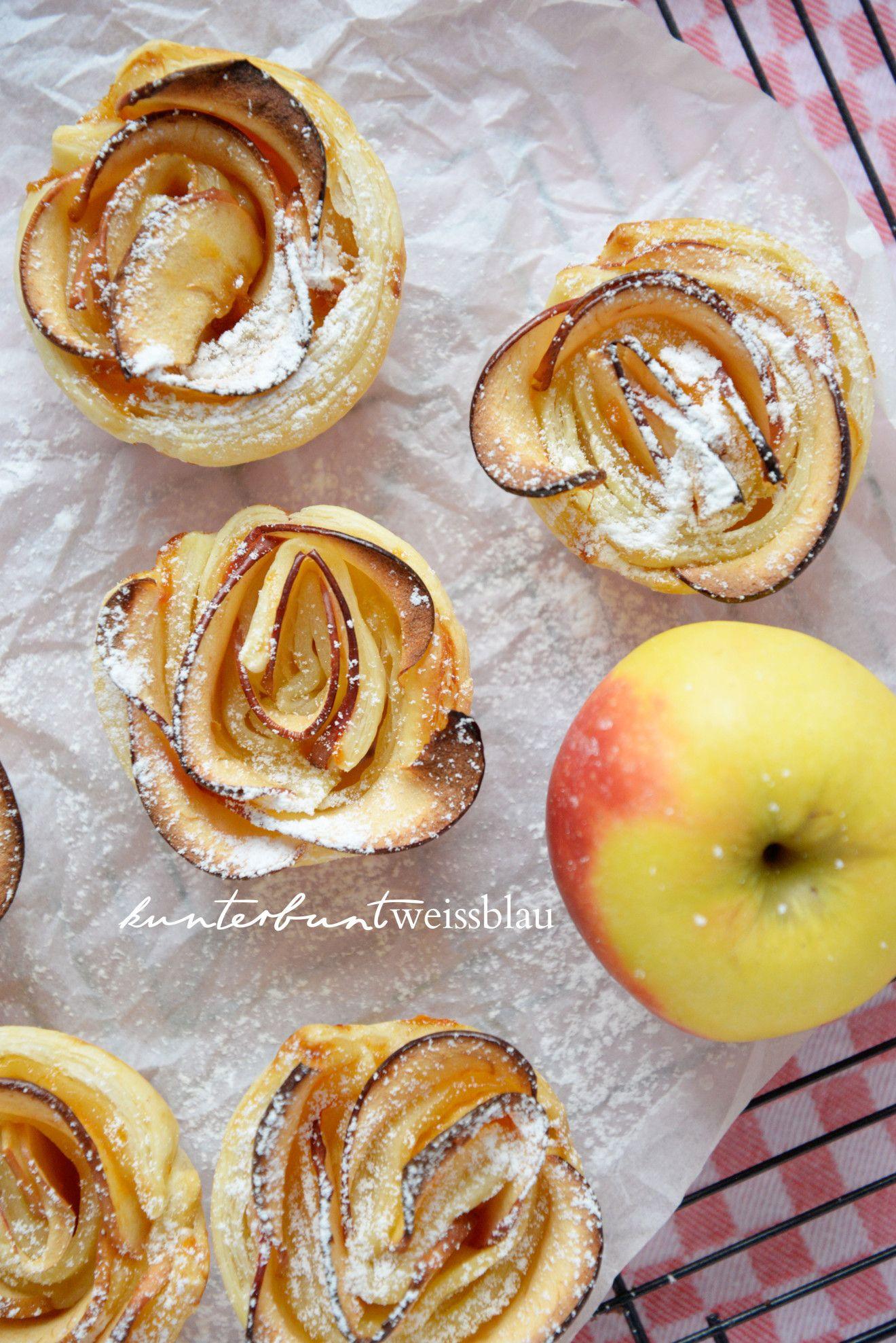 Apfel Rosen #blätterteigrosenmitapfel
