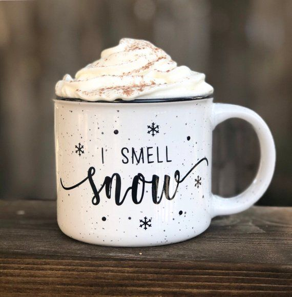 I Smell Snow Campfire Mug//Coffee Mug//Coffee Cup//Holiday Mug//Fall Mug//Christmas Mug//Gilmore Girls #coffeecup
