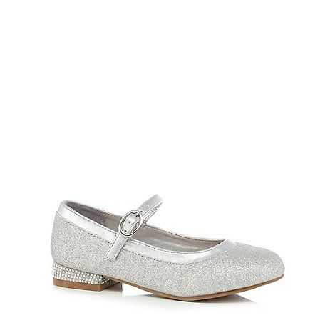 41b6d0ee561 J by Jasper Conran Girls  silver Mary Jane sandals