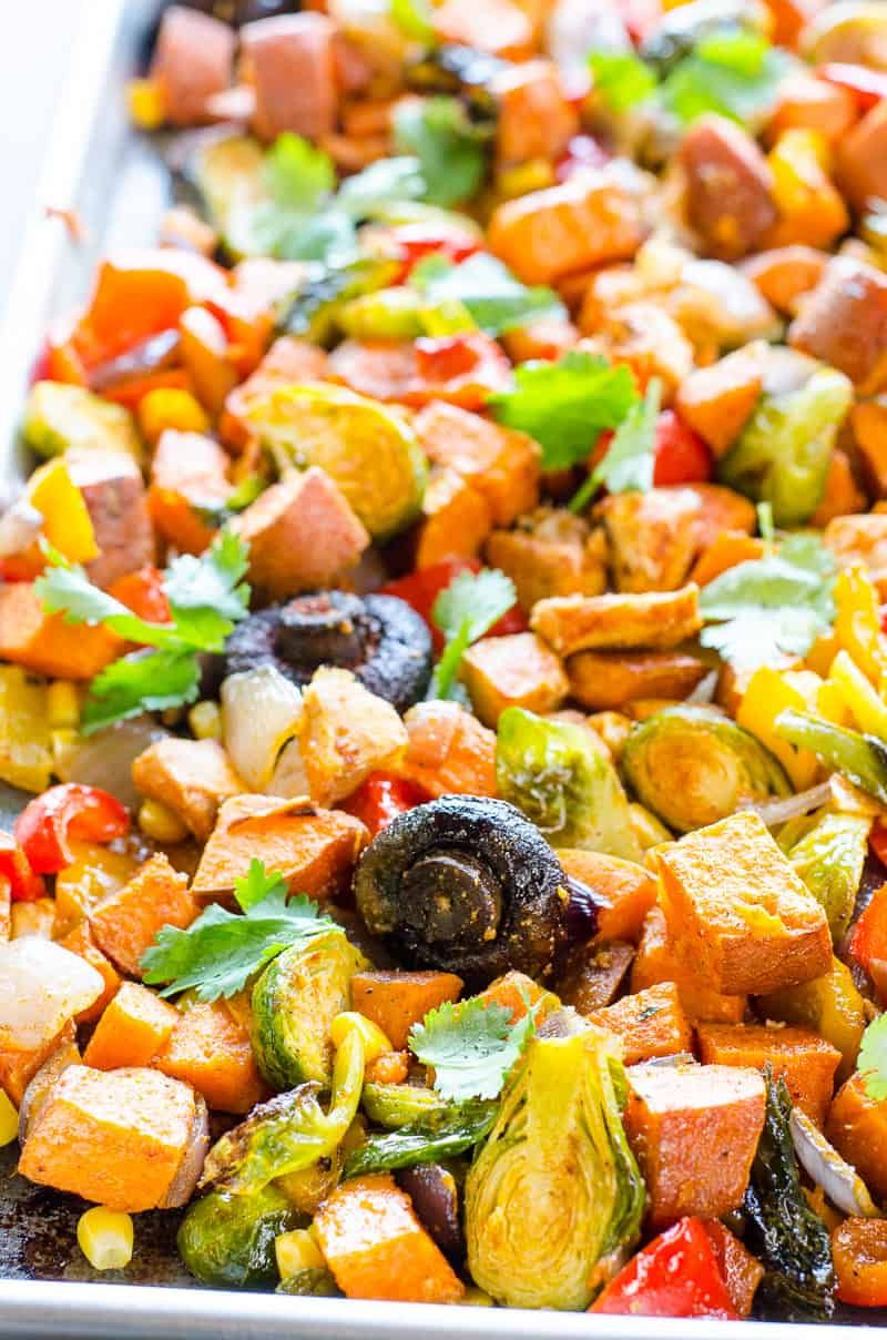 30 Minute Baked One Pan Chicken And Veggies Recipe With
