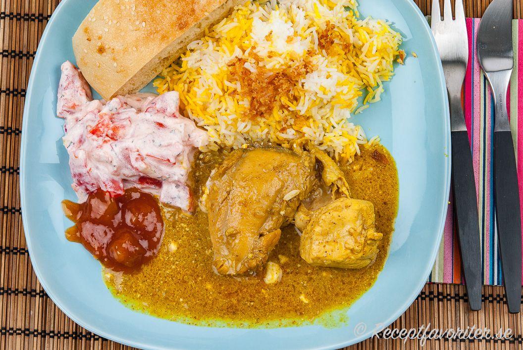 Indisk Currygryta Med Kycklingdelar Recept I 2020 Med Bilder Indisk Mat Recept Ghee