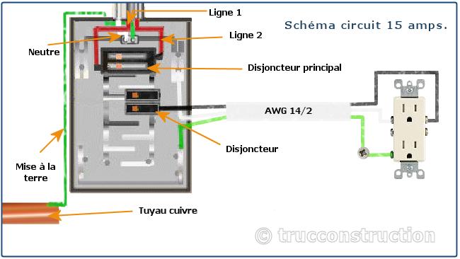 sch mas circuit lectrique 15 amp res lectricit pinterest electricit schema sch ma et. Black Bedroom Furniture Sets. Home Design Ideas