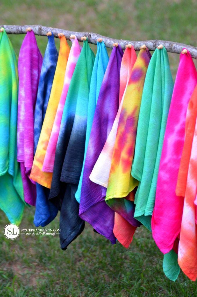 Tie Dye Folding Techniques 16 vibrant