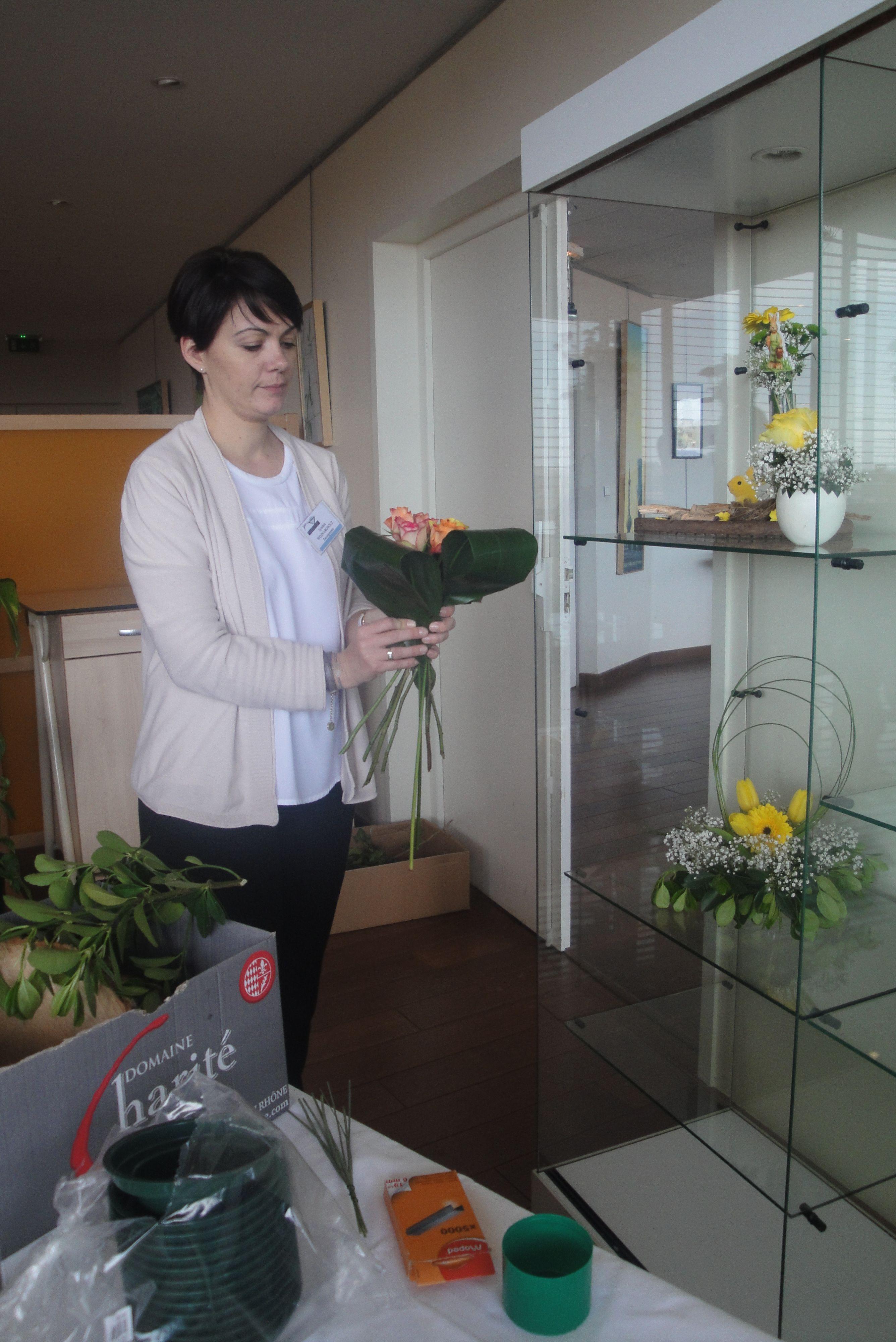 Réalisation de bouquets printaniers