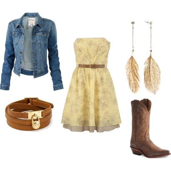 cute country girl outfit cute but skip the earrings  just