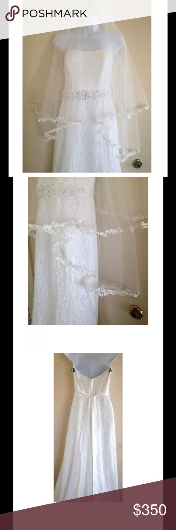 Davids Bridal Wedding Gown & Veil Davids bridal wedding