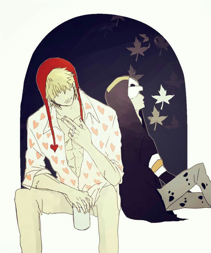 Corazon, Law, sleeping, cute; One Piece