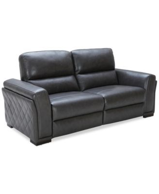 Jessi 2 pc Leather Sectional Sofa with 2 Power Recliner Created