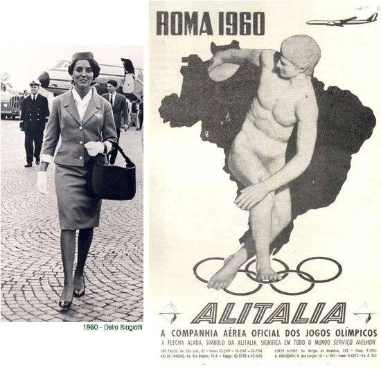 Volare a roma vintage o retr alitalia divisa delia biagiotti 1960 ad hoc per le - Italian ad hoc interviste ...