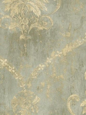 In love with this pattern damask wallpaper my comfort for Braune klebefolie
