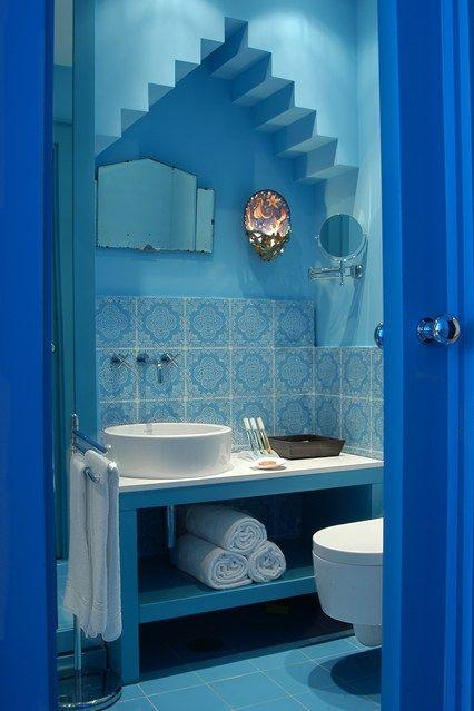 Blue Tiles | Oriental, Salle de bains et Salle
