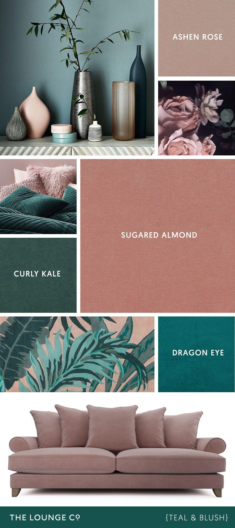 Colour Combinations Teal Blush Color Palette Living Room