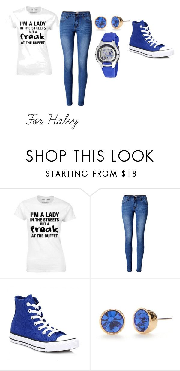 """""""For Haley"""" by agk2403 ❤ liked on Polyvore featuring WithChic, Converse, Kate Spade and Casio"""