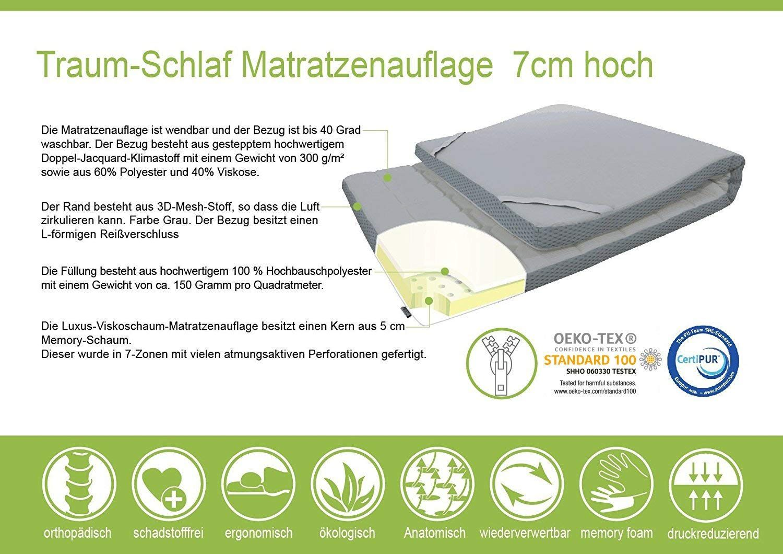 Ebitop Topper Matratze Matratzenauflage Ebi A1 90 7 Bezug Waschbar Viskose Matratzenauflage 200x90x7 Cm Weiss Amazon De Matratzenauflage Matratze Auflagen