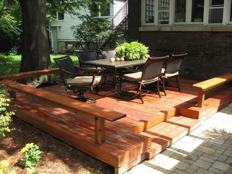 Wonderful Cheap Floating Deck Design For Your Backyard Breakpr Small Backyard Decks Backyard Patio Patio Deck Designs