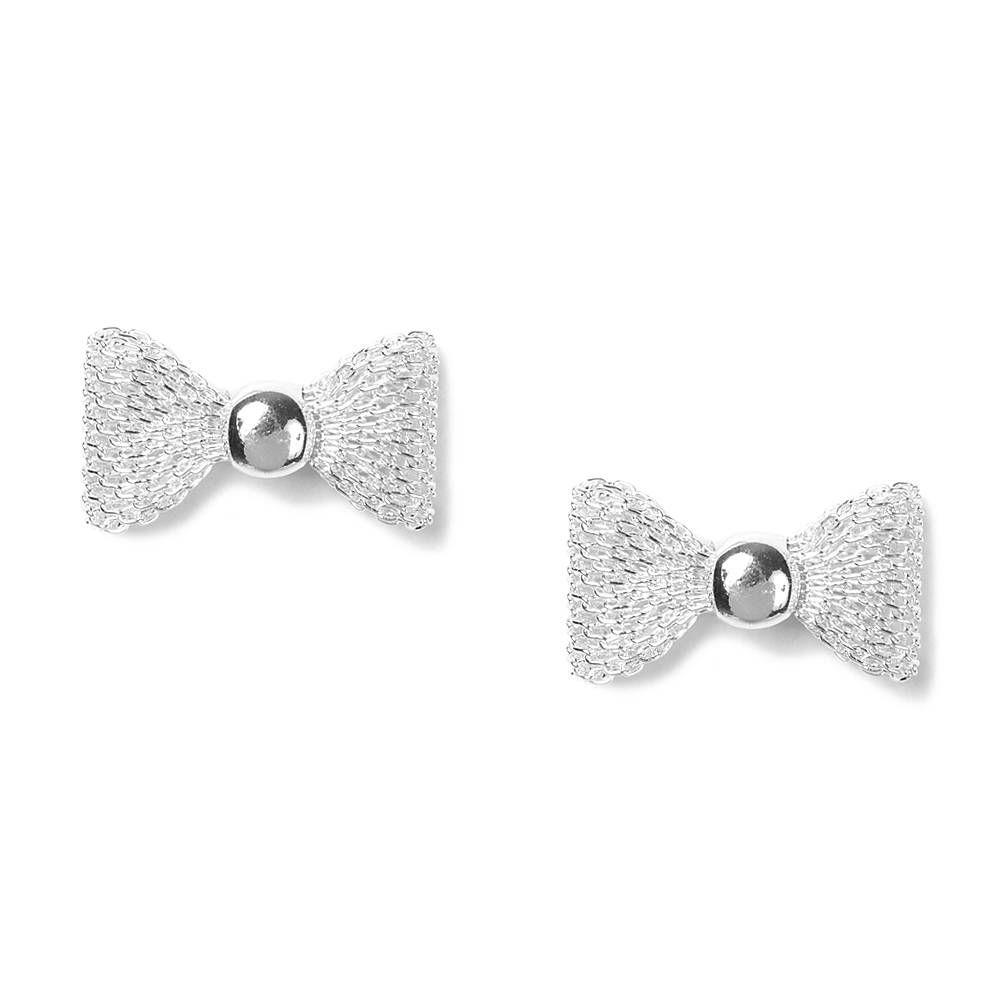 5f398b4da Mesh Bow Stud Earrings | Claire's | jewelry | Jewelry, Earrings ...