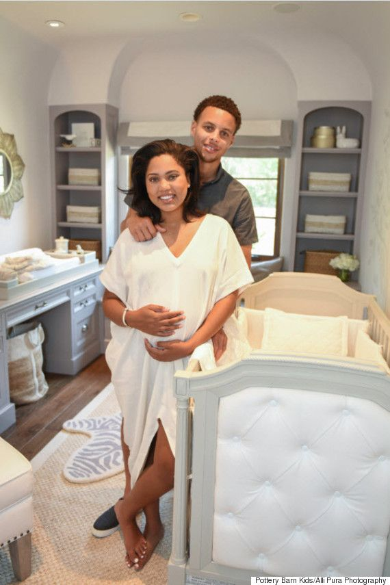dc097393a1ab Heres A Look At The Nursery For Stephen Currys Baby-To-Be...looks like  their changing table is set up on a desk  Smart furniture selection that  grows with ...