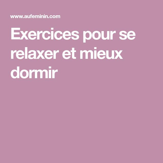 Épinglé sur Exercices de Relaxation.