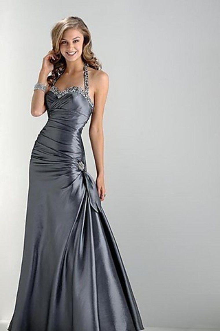 Shop Classic Traditional Prom Dresses Mermaid Trumpet Halter Floor ...
