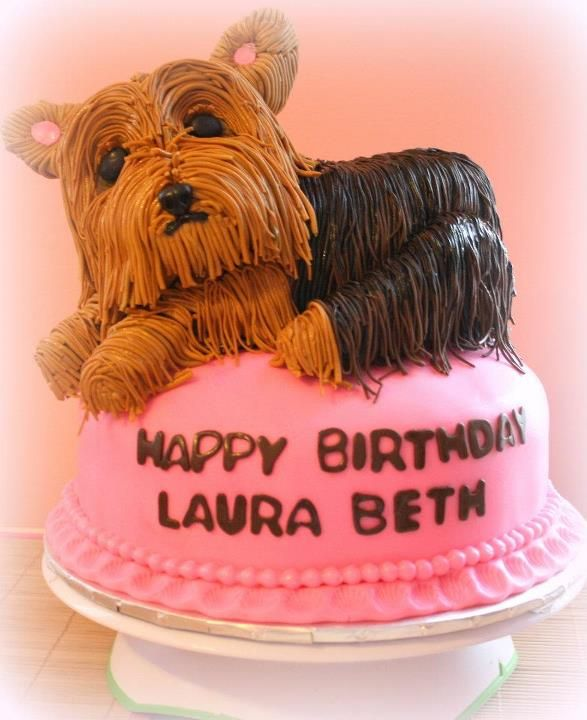 Yorkie Cake for Ms Jayne FYI For my friends Pinterest
