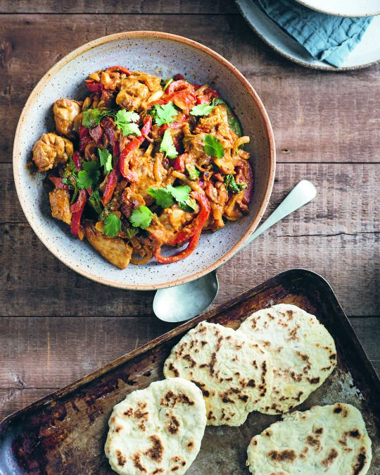 Chicken Korma With Cumin Naan From Callum Hann Themis Chryssidis Quick Easy Healthy Healthy Chicken Korma Healthy Eating