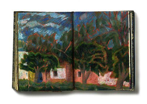 Parc, San Miguel Mexico - Keith Miller (aquarelle/ pastels huile)