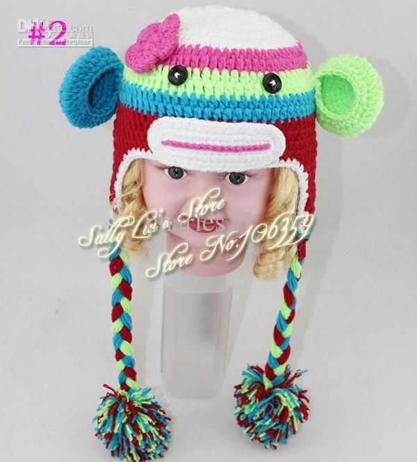 Girl sock monkey crochet hat pattern handmade baby monkey beanie 2017 girl sock monkey crochet hat pattern handmade baby monkey beanie crochet knit animal baby hat from charles27 1609 dt1010fo