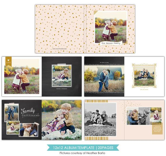 12x12 Family Album Template   Free Spirits   E754  Free Album Templates