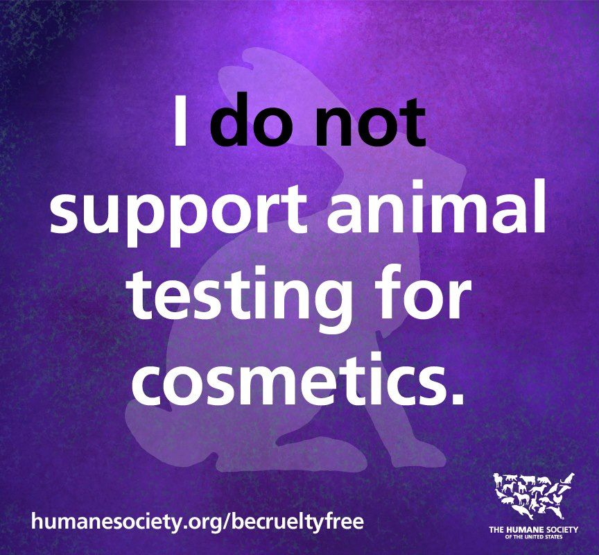 I do NOT support animal testing for cosmetics. #Vegan and cruelty-free all the way. | #animals #animalrights