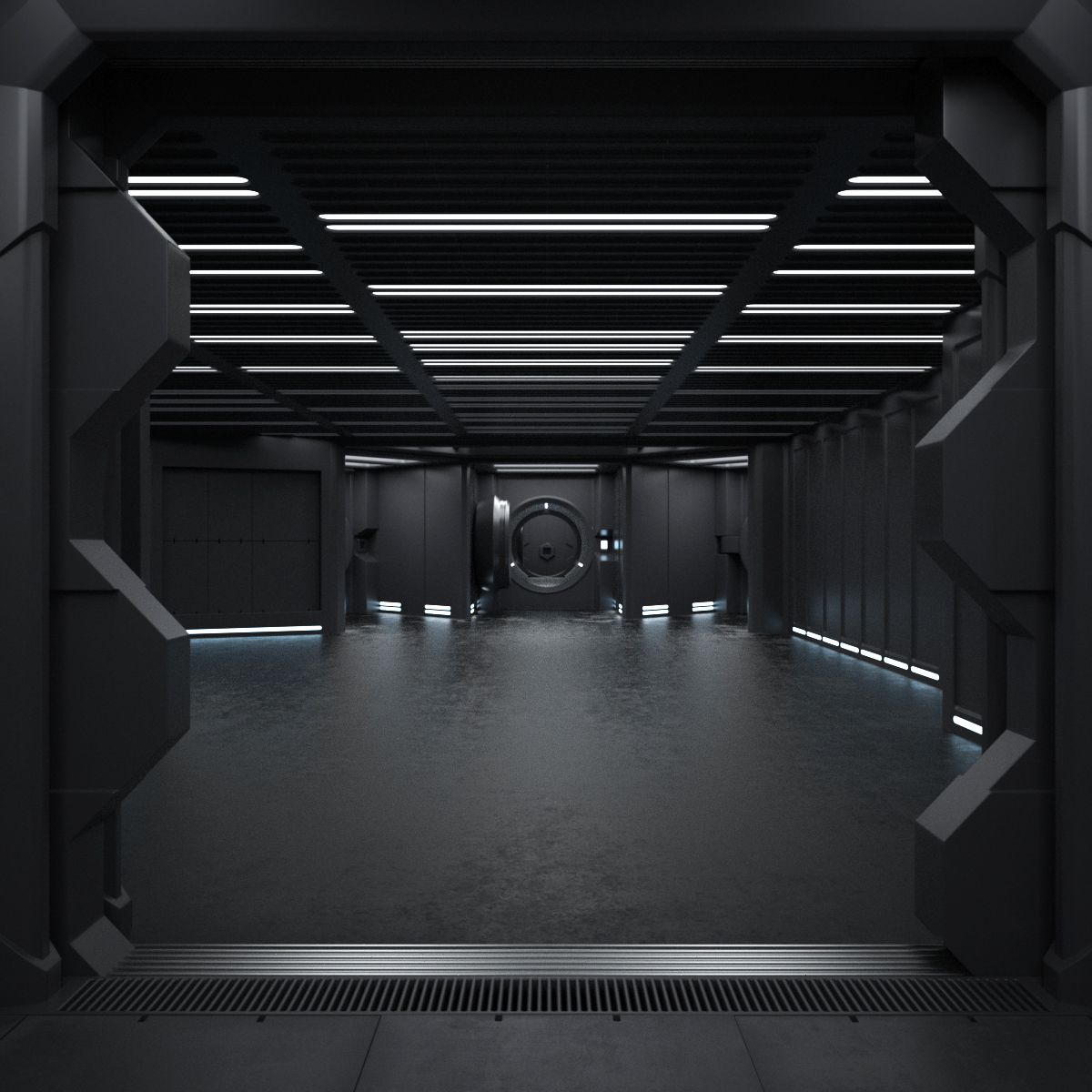 6 tumblr perspective spaceship interior futuristic for Sci fi decor