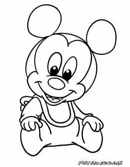 printable mickey mouse disney babies coloring pages printable coloring pages for kids - Printable Mickey Mouse Coloring Pages