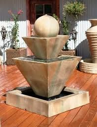 Outdoor water fountainsAssembly Instructions are included in all products. Most items can be put together in only a few minutes and require minimal strength or tools.http://www.fountaincellar.com/