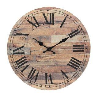 Stonebriar Old Fashioned Round Wood Wall Clock | Kohls ($25 on sale 10-24-19)