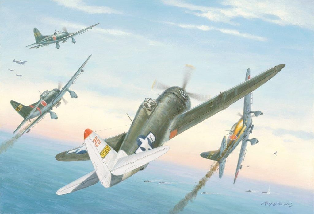 P-47 Thunderbolts vs D3A Vals