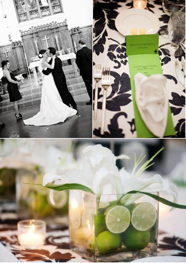 #black, #white, #green, #modern, #centrepieces, #decor