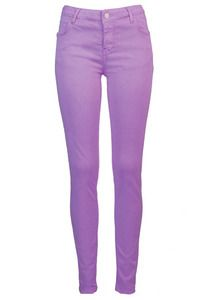 0762320512688 Spring Summer Pastel Light Bright Purple Lilac Colour Skinny Pants Jeans
