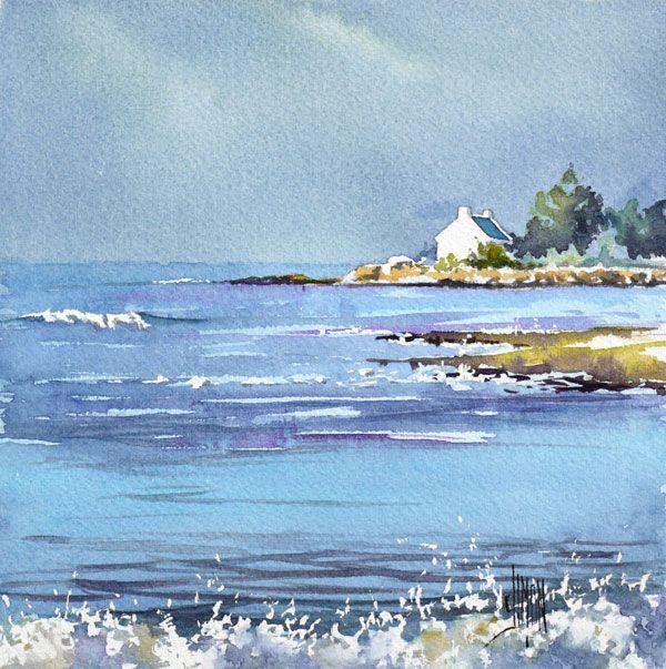 Epingle Par Francoise Rey Sur Aquarelles Paysage De Mer Peinture