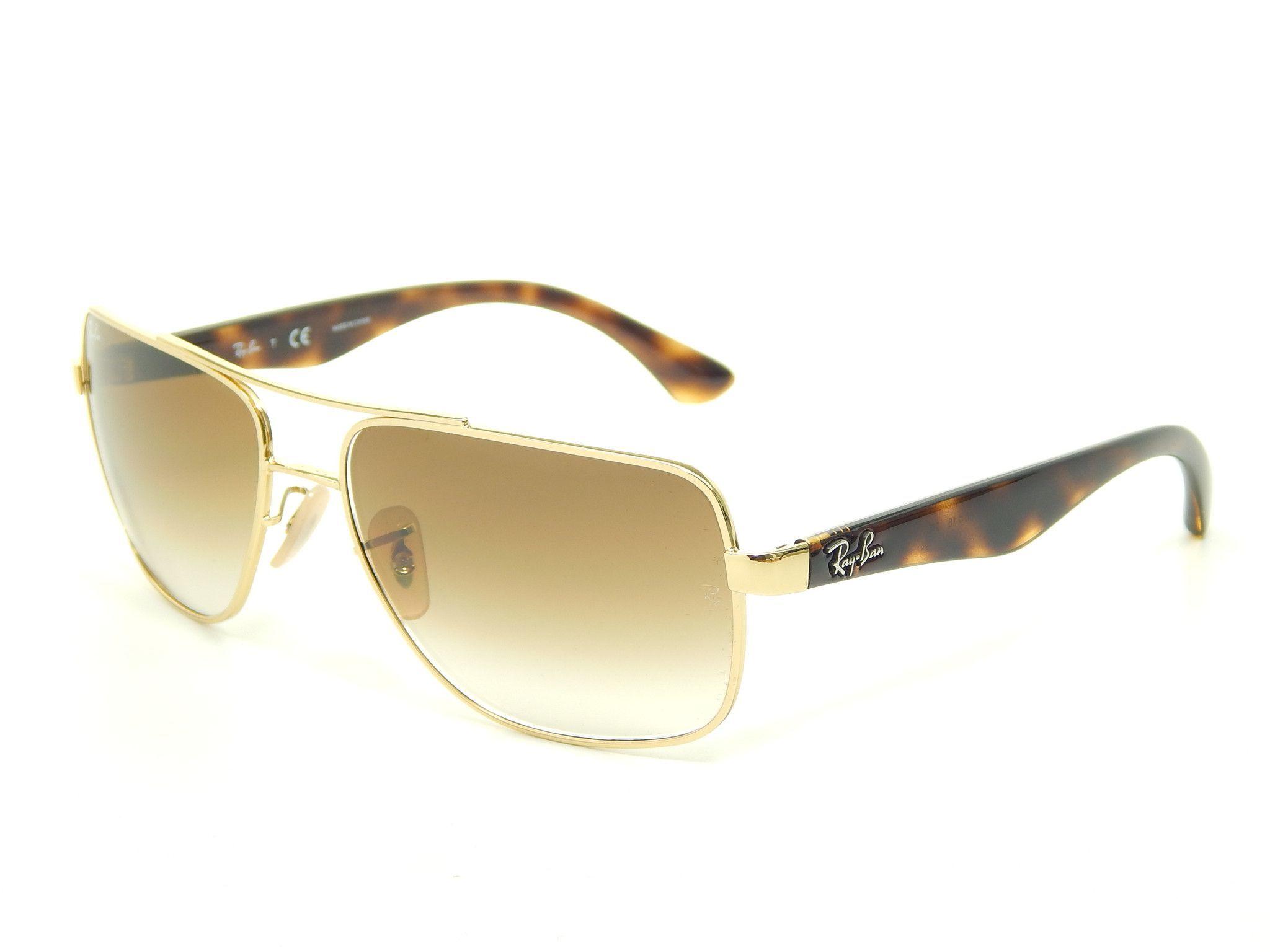 1e17882c4c Ray Ban RB3483 001 51 Gold Light Brown Gradient 60mm Sunglasses ...