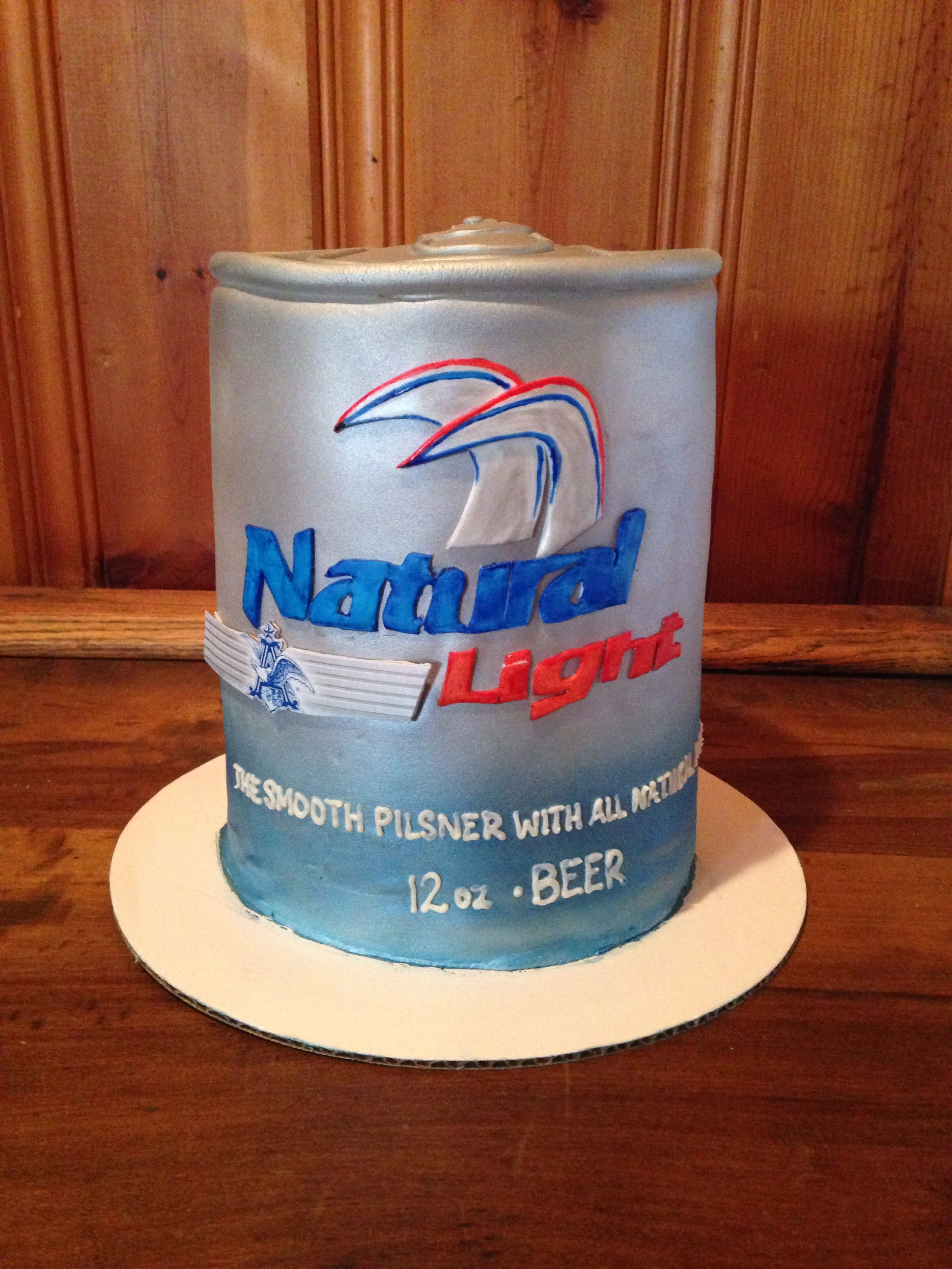 Natural light beer can cake | Beer can cakes, Beer, Party cakes
